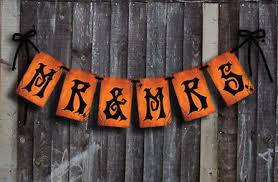 mr u0026 mrs halloween wedding banner for gothic or day of the