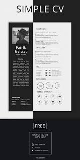 Simple Resume Templates Free Simple Resume Template Free Design Resources