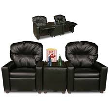 home theater couch living room furniture amazon com dozydotes kids 2 seat theater seating recliner