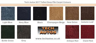set tufted deep pile made to order triumph spitfire 1500