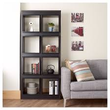 bauster 8 cubby open bookcase room divider espresso homes