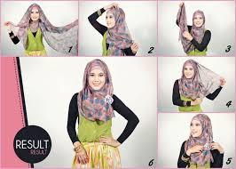 tutorial memakai jilbab paris yang simple islamsqy