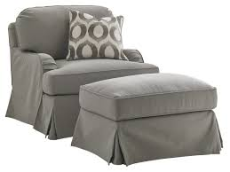 Slipcover For Glider And Ottoman Oyster Bay Stowe Ottoman Slipcover Gray Lexington Home Brands