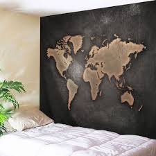 Map Tapestry Seven Continents Map Tapestry Wall Hanging Dun W Inch L Inch In
