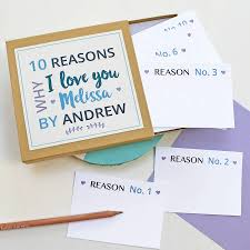 personalised reasons i love you notes by love give ink