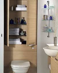 Small Toilets For Small Bathrooms by Spacious Bathroom Storage Behind Toilet And Glass Design Ideas