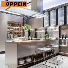 european style modern high gloss kitchen cabinets item oppein modern european style high gloss grey kitchen cabinets