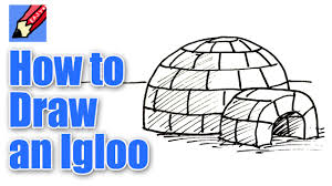 how to draw an igloo real easy youtube