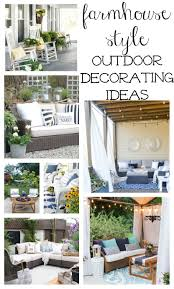 Home Outdoor Decorating Ideas Farmhouse Style Outdoor Decorating Ideas U0026 Shopping Guide
