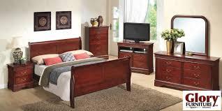Louis Philippe Sleigh Bed Cherry Louis Phillipe 6 Piece Bedroom Set