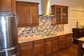 Refrigerator Range Hood Kitchen Backsplash Ideas With Oak Cabinets - Kitchen backsplash ideas with dark oak cabinets