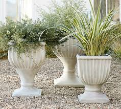 Outdoor Large Vases And Urns Fluted Urn Planter Pottery Barn