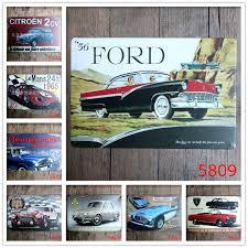 ford mustang metal wall aliexpress com buy 1965 blue car metal poster ford mustang tin