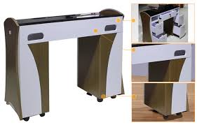 Nail Bar Table Station Salon Furniture Durable Luxury Manicure Table Nail Used Tables For