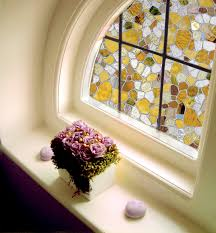 decorating colorfull windows design with artscape window film for