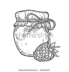 apple jam vector sketch stock vector 418361374 shutterstock
