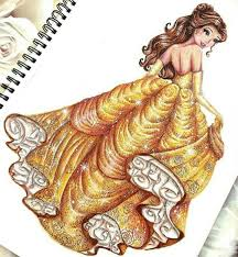 belle drawing don u0027t drawn painted by me disney pinterest