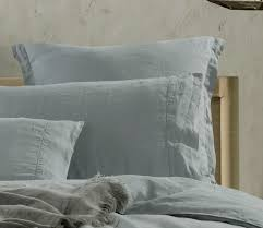 pure french linen duvet cover quilt cover set duck egg blue