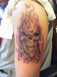 normally i am a big fan of skull tattoos but this one is not
