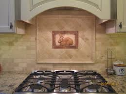 Decorative Backsplashes Kitchens Kitchen Tiled Backsplash With Handcrafted Rabbit Tile As An