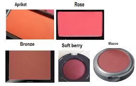 Eyeshadow Viva Warna memilih warna blush on yang sesuai dengan warna kulit