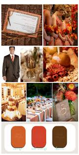 fall orange red and brown rustic wedding inspiration board
