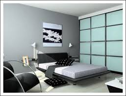 Awesome Blue Black And White Bedroom Interior Design Ideas Picture - Black and white bedroom interior design