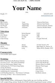 actors resume template free acting resume template theatre resume template inspirational
