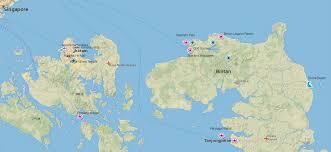 map batam batam and bintan island travel guide indonesia travel guide