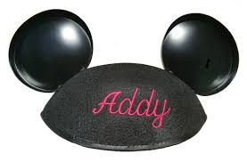 your own embroidered personalized mickey mouse ears