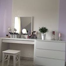 minimalistic vanity table easy to create from ikea malm dressing