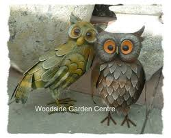 arts wise owl metal garden ornament woodside garden centre