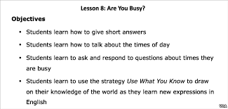 lesson 8 are you busy