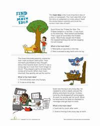 main idea story comprehension worksheets worksheets