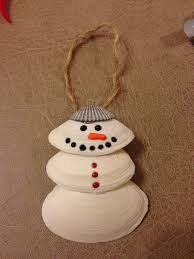 snowman seashell ornament we are so making these making
