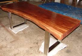 dining room wood slab dining tables with live edge table
