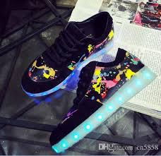 light up shoes charger women men colorful glowing shoes lumineuse with usb light up charger