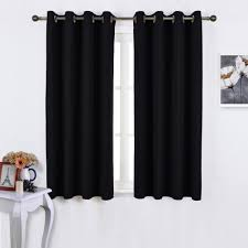 45 Inch Curtains Nicetown Window Curtains Blackout Drapes Black