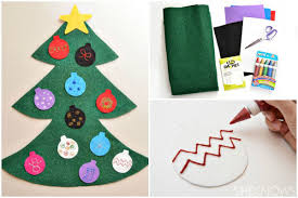 adorable diy felt tree ornaments for
