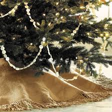tree skirts fringed burlap tree skirt ballard designs