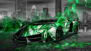 lamborghini green and black lamborghini veneno aerography city car 2014 el tony