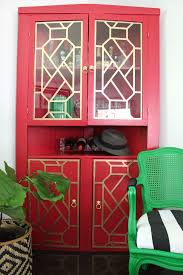the diy designer boring black to vivid red cabinet makeover