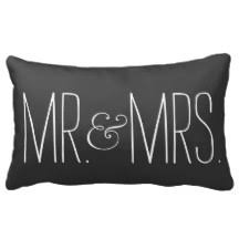 mr and mrs pillow mr and mrs pillows decorative throw pillows zazzle