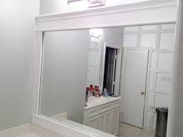 Framed Bathroom Mirrors Wood Bathroom Mirror Frames Tomichbros Com