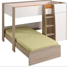 Single Bunk Bed With Desk Loft Single Bunk Two Tone New Design French Made Limited Price