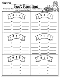 number fact families free fact family worksheets activity shelter
