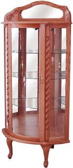 curved corner curio cabinet curved glass corner curio curio cabinet buckeye amish furniture