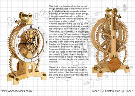 Free Wooden Clock Movement Plans by Clock12