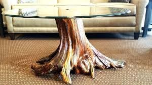 tree stump table base tree stump dining table base houzz regarding trunk designs 2 www