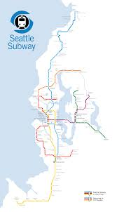 Bart System Map by Proposed Seattle Subway Map Transportation U0026 Cities Pinterest